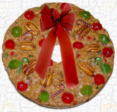 Fruitcake Wreath