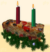 Fruitcake Candle Holder
